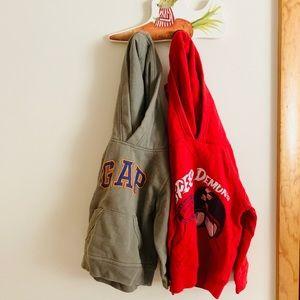 Lot of 2 GAP kids hoodies 2T
